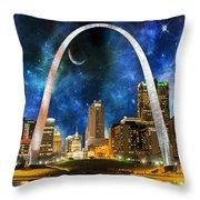 Spacey St. Louis Skyline Throw Pillow