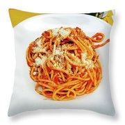 Spaghetti Bolognese Throw Pillow