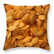 Spaghetti Squash Seeds Throw Pillow