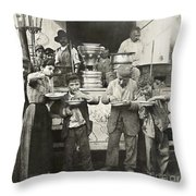 Spaghetti Vendor, C1908 Throw Pillow