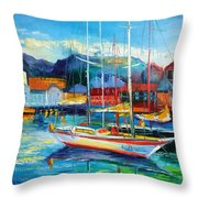 Spain Boats Throw Pillow