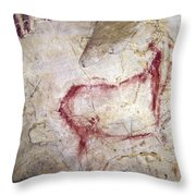 Spain: Cave Painting Throw Pillow