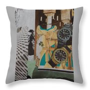 Spain Collage Throw Pillow