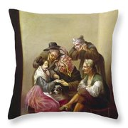 Spain: Palm-reading Throw Pillow