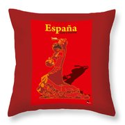 Spain Reed  Throw Pillow