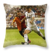 Spain Soccer Bernabeu Trophy Throw Pillow