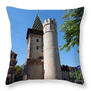 Spalentor In Basel Switzerland Throw Pillow