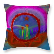 Spanish America Throw Pillow