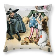 Spanish-american War, 1896 Throw Pillow