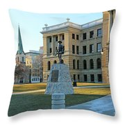 Spanish American War Memorial At Lucas County Courthouse 0098 Throw Pillow