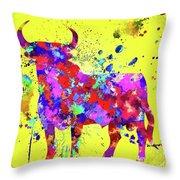 Spanish Bull  Toro Bravo Throw Pillow