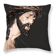 Spanish Christ Throw Pillow