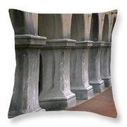 Spanish Columns Throw Pillow