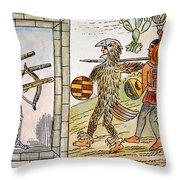 Spanish Conquest, 1520 Throw Pillow