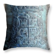 Spanish Crest 1764 Throw Pillow