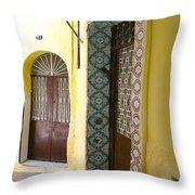 Spanish Doors Throw Pillow