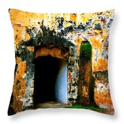 Spanish Fort Doorway Throw Pillow