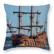 Spanish Galleon Throw Pillow