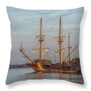 Spanish Galleon Throw Pillow