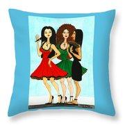 Spanish Girls Throw Pillow