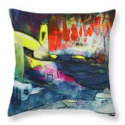 Spanish Harbour 01 Throw Pillow