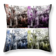 Spanish Moss Beauty Of Color Throw Pillow
