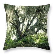 Spanish Moss In Motion Throw Pillow