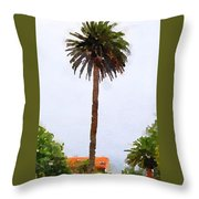 Spanish Palm Tree Throw Pillow