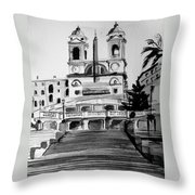 Spanish Steps Throw Pillow