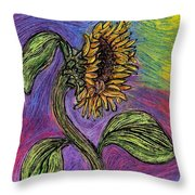 Spanish Sunflower Throw Pillow
