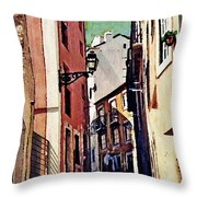 Spanish Town Throw Pillow