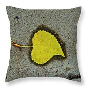 Spared Heart And Its All Yellow Throw Pillow