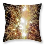 Spark Of The Fountain Throw Pillow