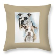 Sparkle And Buster Throw Pillow
