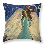Sparkle Angel Throw Pillow
