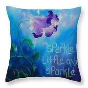 Sparkle, Little One Throw Pillow