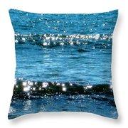 Sparkle Waves  Throw Pillow