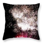 Sparkles Fireworks Throw Pillow