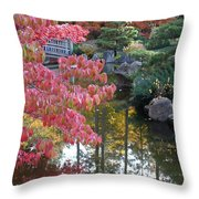 Sparkling Autumn Reflection Throw Pillow