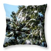 Sparkling Icicles  Throw Pillow
