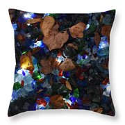 Sparkling Leaves Throw Pillow