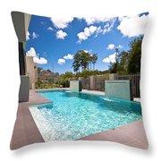 Sparkling New Pool Throw Pillow