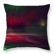 Sparkling Night Of The Aurora Borealis Throw Pillow