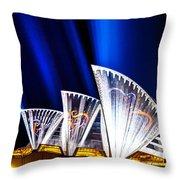 Sparkling Blades Throw Pillow