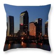 Sparkling Tampa Bay Throw Pillow