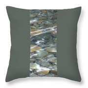 Sparkling Water On Rocky Creek 1 Throw Pillow