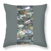 Sparkling Water On Rocky Creek 2 Throw Pillow