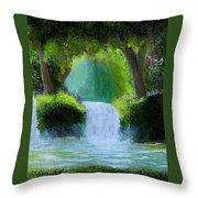 Sparkling Waterfall Throw Pillow