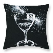 Sparkling Wine  Throw Pillow