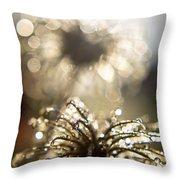 Sparkly Seedheads Throw Pillow